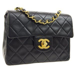 CHANEL Quilted CC Single Chain Shoulder Bag
